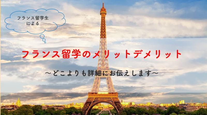 フランス留学生によるフランス留学のメリットデメリット〜どこよりも詳細にお伝えします〜